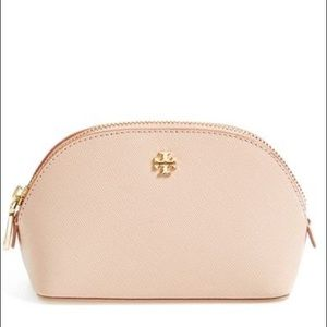 Tory Burch Robinson Small Cosmetic Case Pink